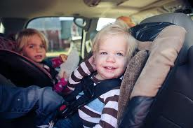 car safety seat with two children